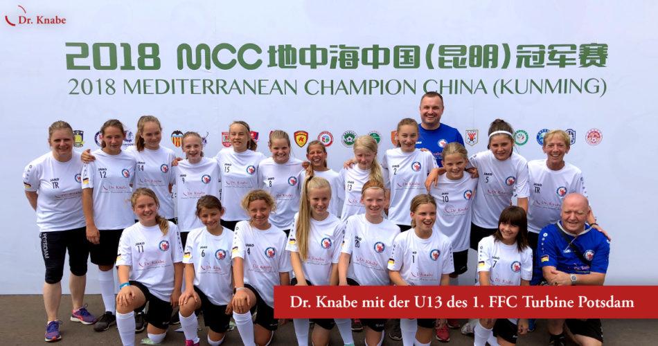2018 MCC in Kunming (China) – Dr. Knabe begleitet die U13 des 1. FFC Turbine Potsdam