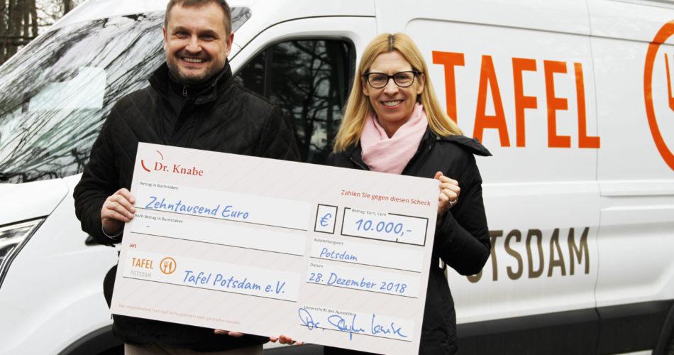 Tafel für Tafel – Übergabe des Spendenschecks an die Tafel Potsdam
